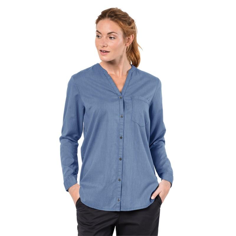 038f72dde71 Туника INDIAN SPRINGS SHIRT WOMEN немецкого бренда Jack Wolfskin голубого  цвета очень удобная и стильная женская ...